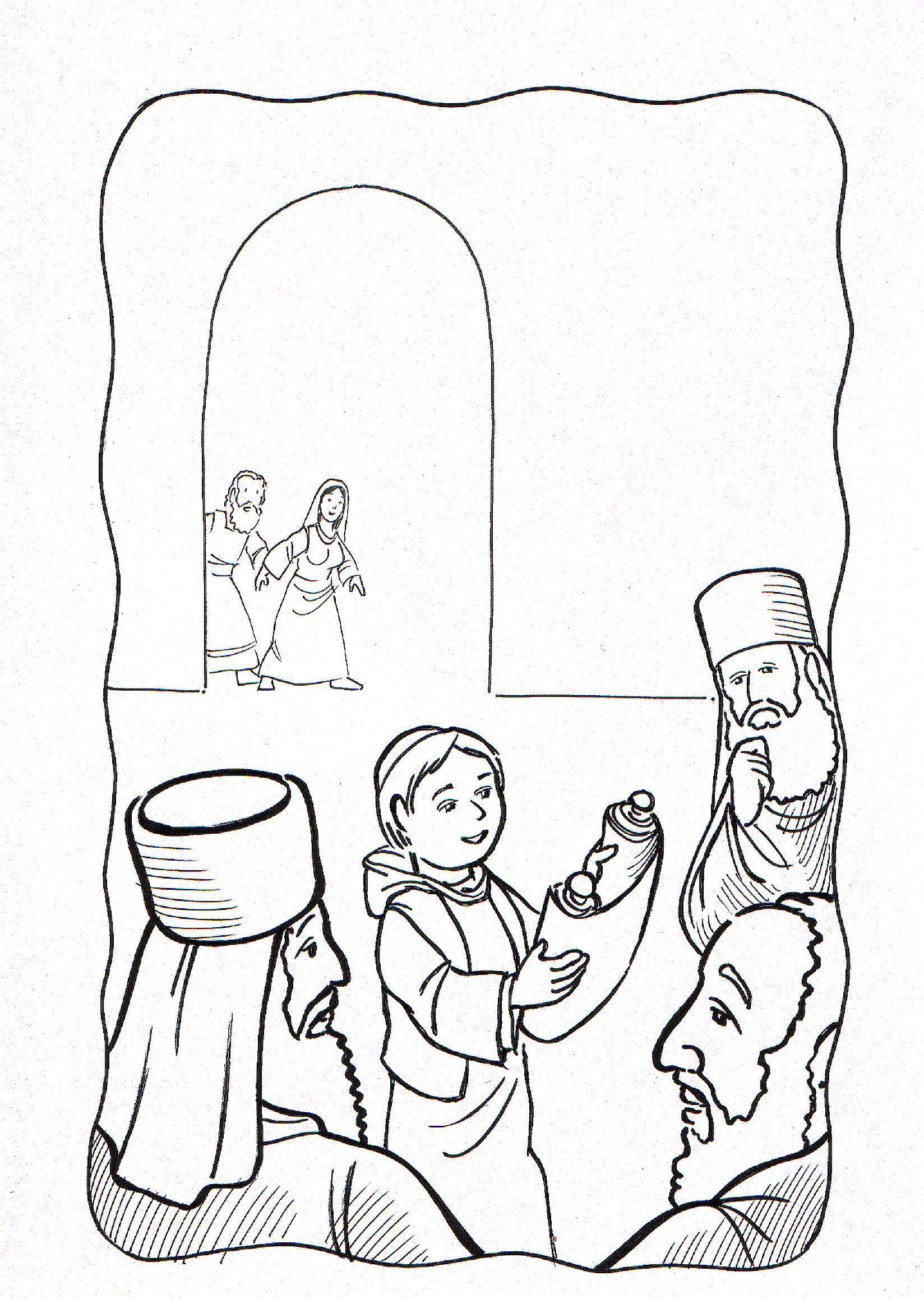 Free coloring pages of 12 year old jesus in the temple for 12 year old jesus in the temple coloring page