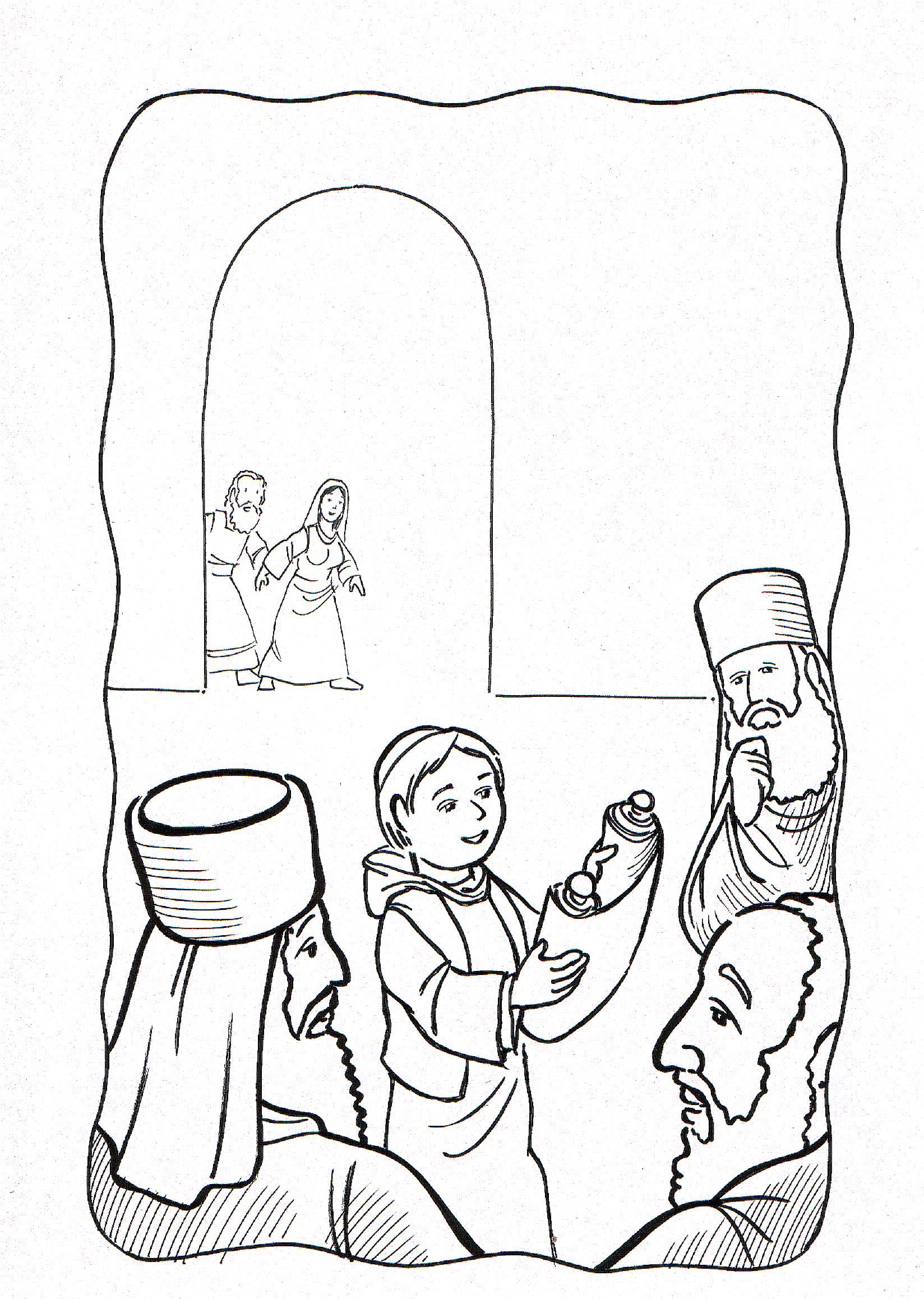 Dibujos para colorear cristianos del niño jesus en el templo - Imagui