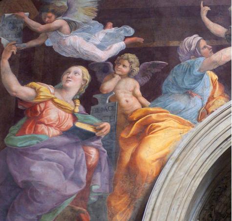 sibilas y ángeles Santa Maria della Pace detalle