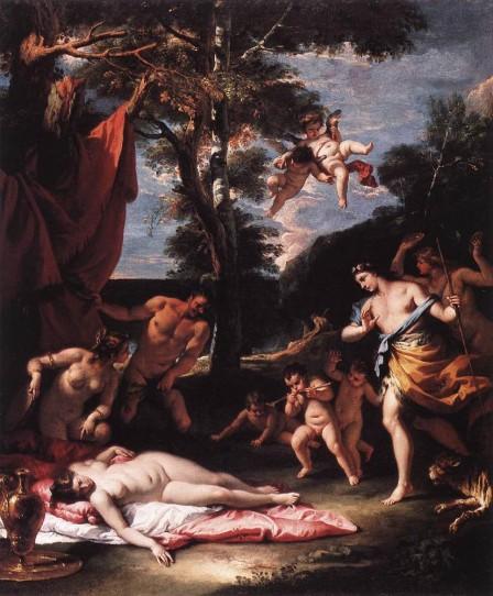 El encuentro de Baco y Ariadna