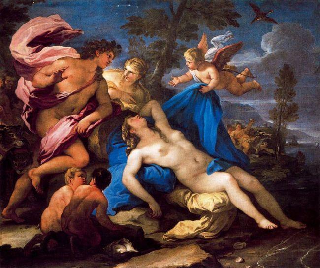 Baco y Ariadna de Luca Giordano