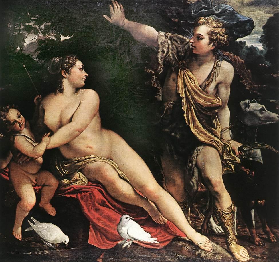 Carracci Venus y Adonis
