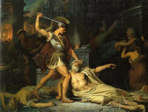 La muerte de Príamo
