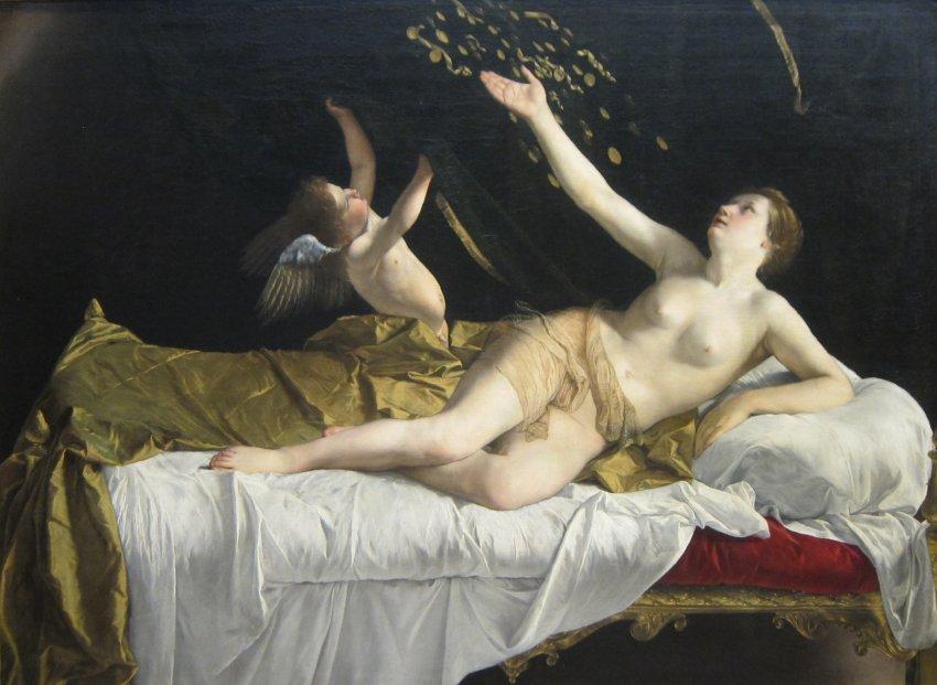'Danaë' de Orazio_Gentileschioleosobrelienzo1621-22
