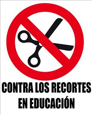 recortes educación tijeras