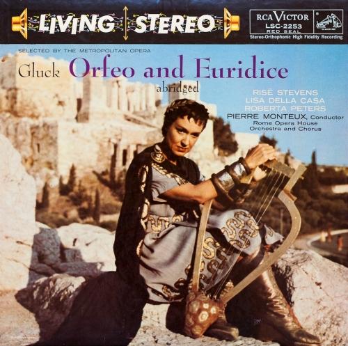 Gluck Orfeo ed Euridice Stevens della Casa Peters Monteux