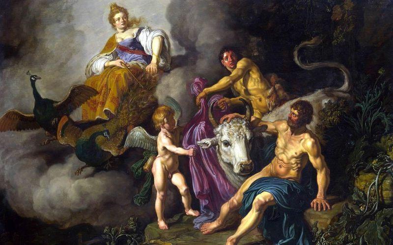 Juno descubriendo a Jupiter con Io PieterLastman
