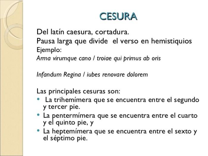 cesura