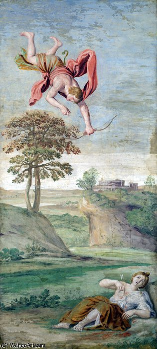 Domenichino(DomenicoZampieri)-ApoloflechandoaCoronide