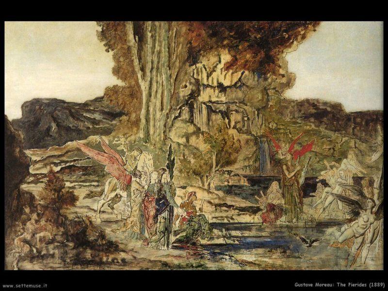 gustave_moreau_Las Piérides_1889