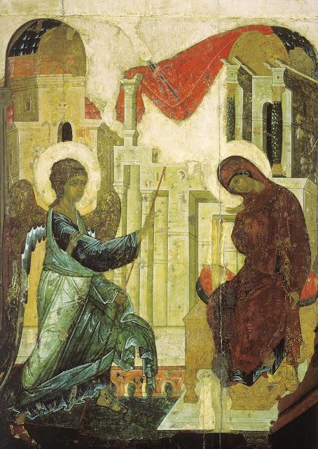Icono de la Encarnación de Andrei Rublev.