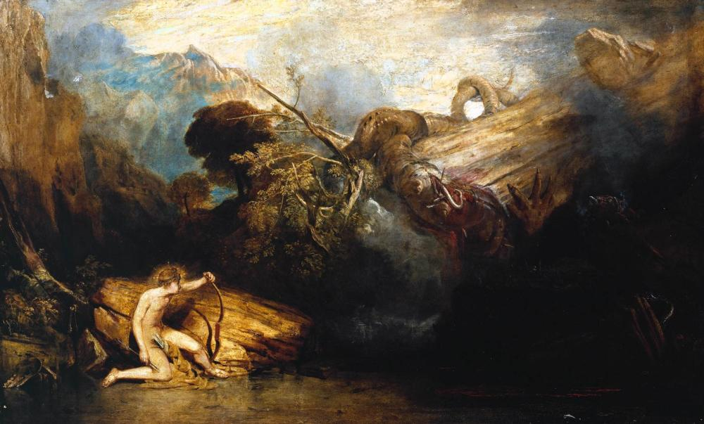Apollo and Python exhibited 1811 Joseph Mallord William Turner 1775-1851 Accepted by the nation as part of the Turner Bequest 1856 http://www.tate.org.uk/art/work/N00488