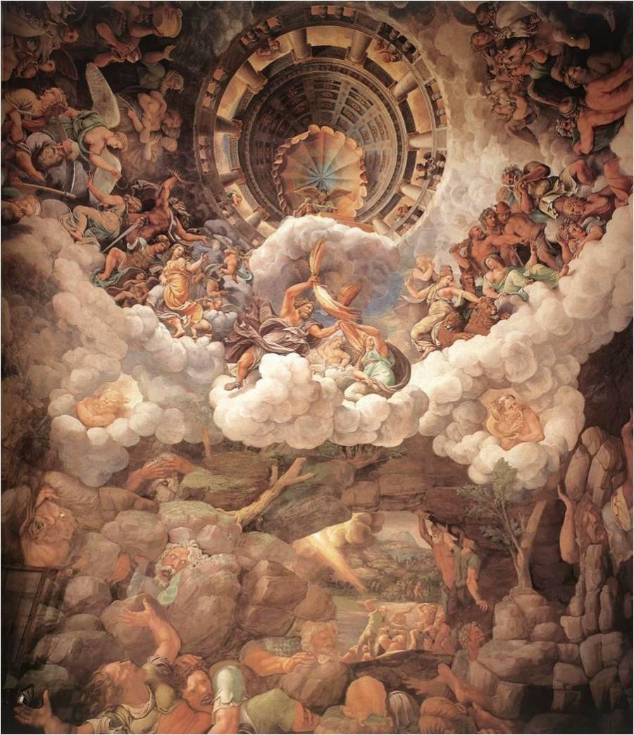 Caída de los Gigantes-Giulio Romano-Palacio del Te-1531-36