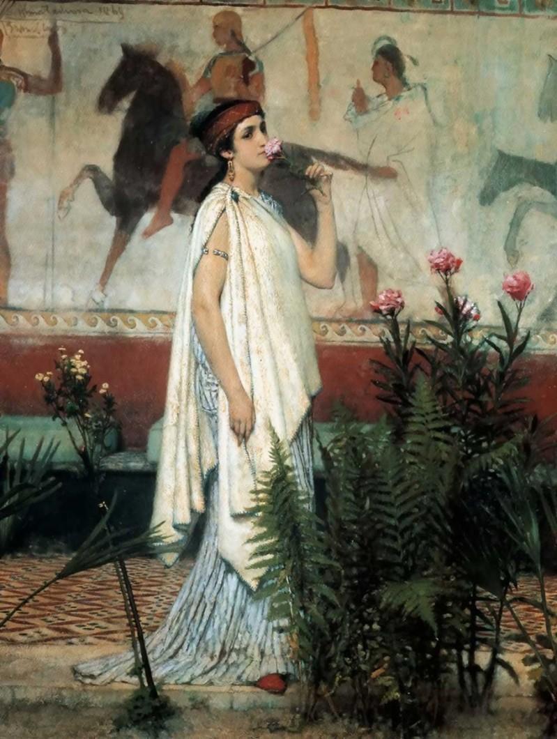 Lawrence Alma-Tadema mujer griega