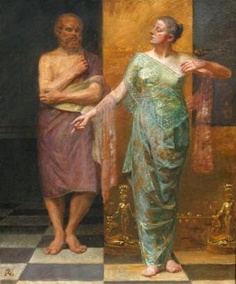 socrates-y-jantipa-por-kristian-zahrtman